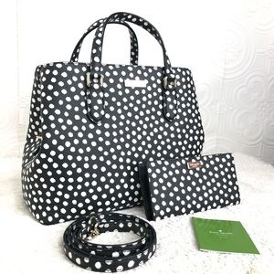 🌸OFFERS?🌸Kate Spade Leather Polka Dots Set NWT